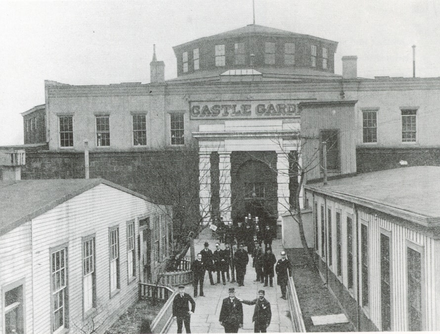 Immigrants at Castle Garden