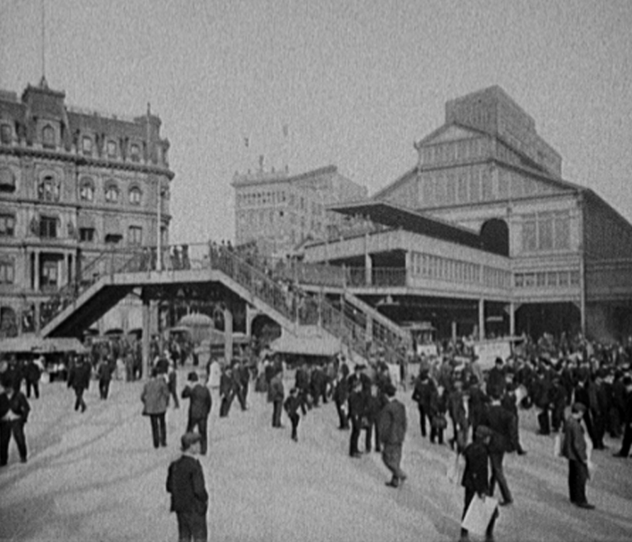 The Park Row entrance to the Brooklyn Bridge