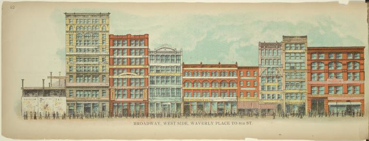 Waverly Place to 8th on Broadway 1899