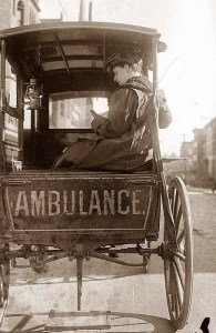 New York City ambulance ca 1890