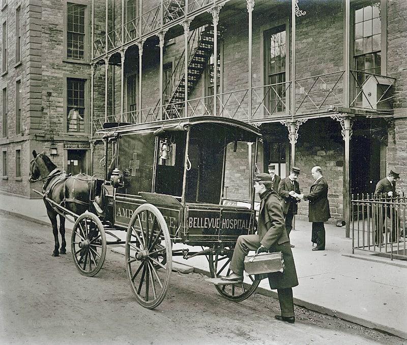 Bellevue Ambulance Service ca 1890