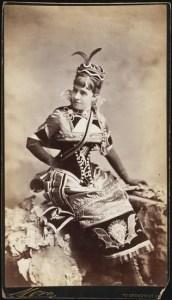 Miss Elizabeth Pelham Bend (later Mrs. Henry Asher Robbins) costumed as Vivandiere du Diable, via Larry Tenney at Pinterest.