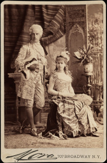 Mr. and Mrs. Cornelius Vanderbilt II in costume