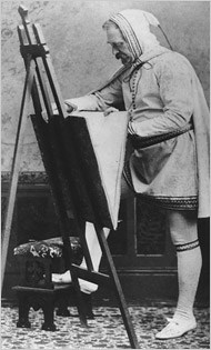 Richard Hunt as the artist Cimabue, a 13th-century Florentine whose paintings he admired