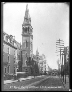 Holy Trinity Church (Dr. Tyng's Church), 42nd Street and Madison Avenue, 1880.