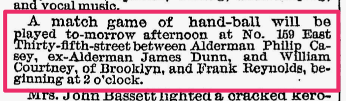 NYT 12 Dec 1883-Handball