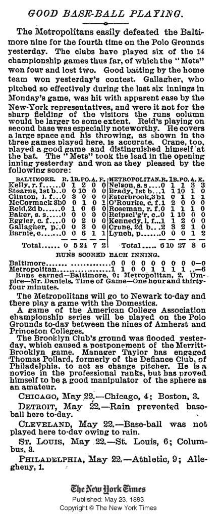 NYT May 1883 Baseball