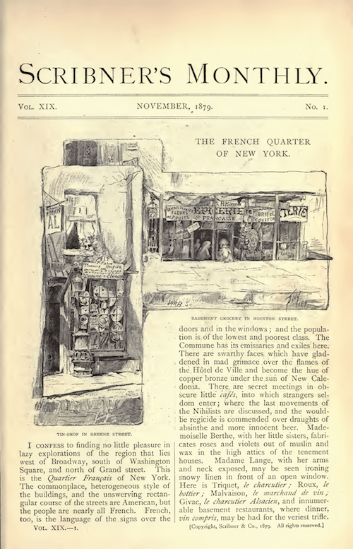 The French Quarter of NY Scribner's 1879