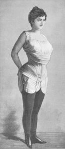 Gaches-Sarraute in her (not fashionable) reform corset from about 1892. It was in fashion from 1900 to 1913, but only after many years of hard work.