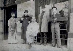 Butcher. Fulton Market 1880.