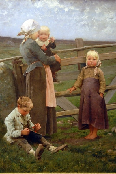 The Dalby Gate Skåne, 1884, Hugo Salmson Swedish (1843-1894) The Way People Really Dressed