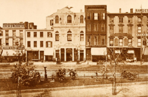 Greeley Square, about 1870. Brown, Henry Collins (ed.) Valentine's Manual of the City of New York for 1916-7 New Series (New York: The Valentine Company, 1916), before p. 183.