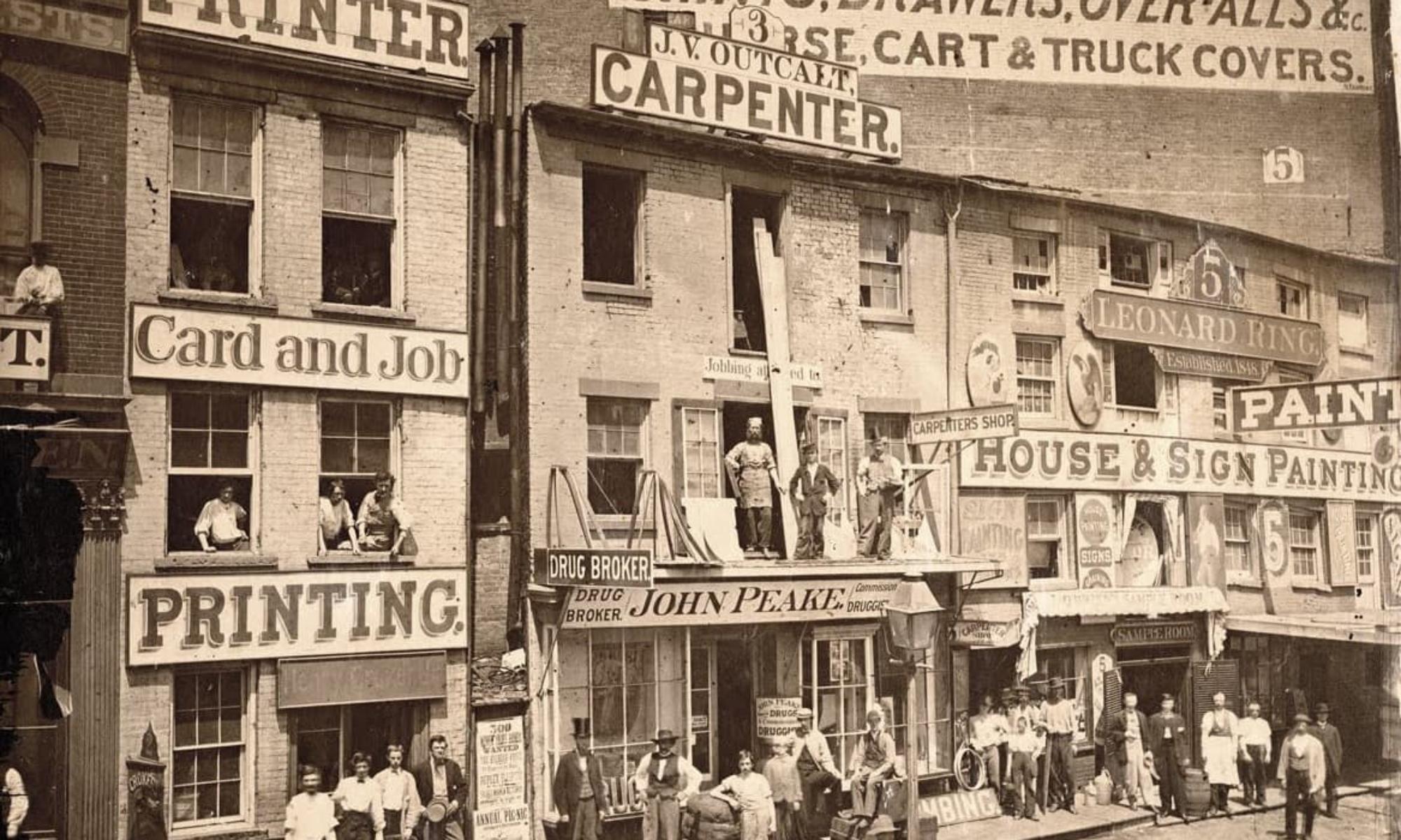 Hudson Street c1865