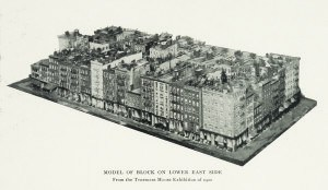 model of a lower east side tenement block ca 1900