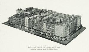 model of a lower east side tenement block ca 1900