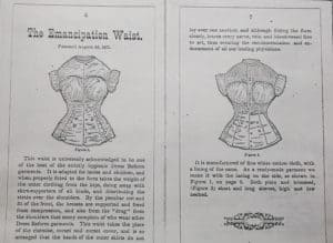 'The Emancipation Waist.' Excerpt from 'Catalog of Dress Reform and Other Sanitary Under-Garments For Ladies and Children' George Frost and Co., Boston Mass June 1, 1876.