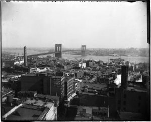 Brooklyn Bridge view from a rooftop